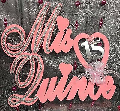 Mis Quince Anos Foam Sign Wall Banner Decoration Party Supplies