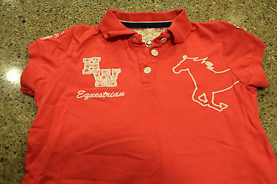 Horseware Pink Girls Polo Shirt Size 11/12 yrs
