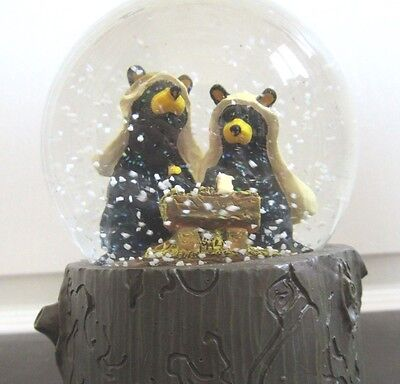 Bearfoots by Jeff Fleming Musical Manger Water Snow Globe - Silent Night 5.75""