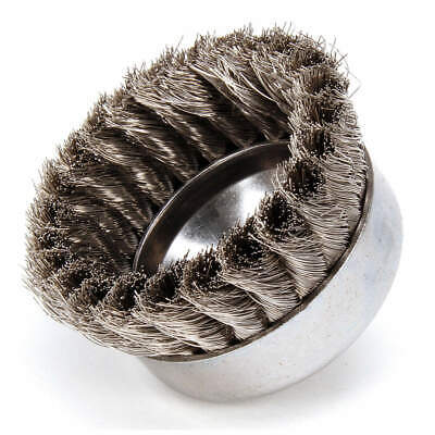 WEILER Knot Wire Cup Brush,Threaded Arbor,4 In., 93442