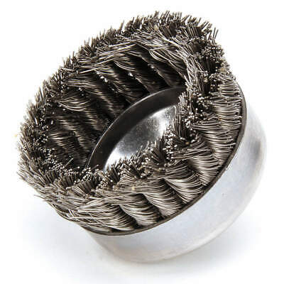 WEILER Knot Wire Cup Brush,Arbor,0.023 In., 93445