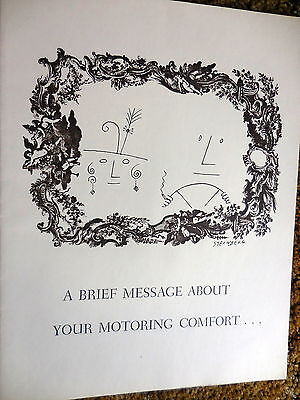 """Original 1959 Lincoln """"Message about Motoring Comfort"""" by Steinberg mint"""