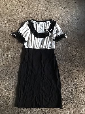 Black & White Wiggle Dress By Review Size 14