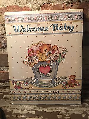 NEW Welcome Baby Record Memory Keepsake Book Album GIFT NEWBORN