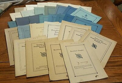 32 PC Lot Daughters Of The American Revolution Books 1908 - 1966 Vintage Antique