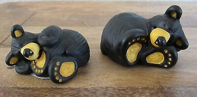 Lot 2 Bearfoots Bears Miniatures by Jeff Fleming Taking Nap