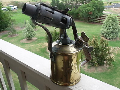 Vintage brass COMPANION blow torch. Made in Australia by authority Max Sievert.