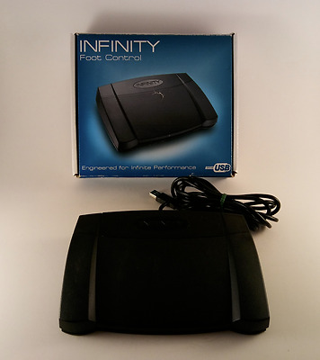 Infinity IN-USB-2 USB Foot Control Pedal for Transcription Dictation - FREE SHIP