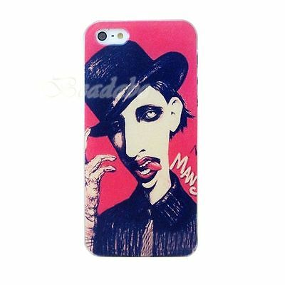 Marilyn Manson Goth Art Music GOTHIC Rock painting iPhone 4 4S cover case