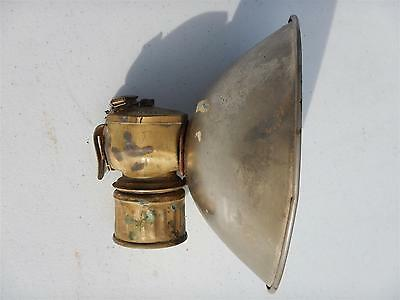 Antique Mining Justrite Carbide Lamp w/ Large Reflector