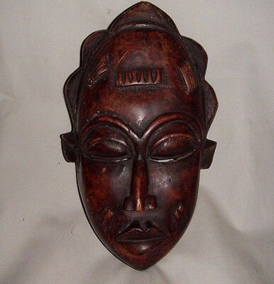 African, wooden, mask Baule tribe, antique