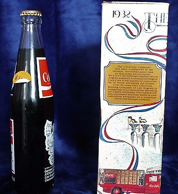1984 Olympic Games Commemorative Coca-Cola Bottle. Unopened. Original. With Box.