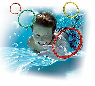 Prime Time Swimming Pool Dizzy Dive Rings 4 Pack New Free Shipping