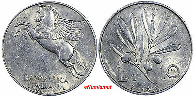 Italy 1948 R 10 Lire 29mm Aluminum XF CONDITION KM# 90