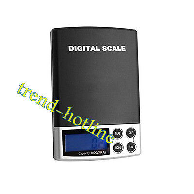 Digital Battery Power Scale w/ LCD Jewelry Kitchen Weight Balance Scale 1kg 0.1g