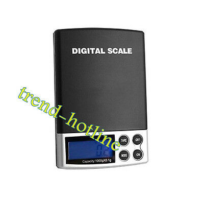 0.1g 1kg Mini Digital Pocket Weight Measure Jewelry Scales with Blue LCD Display
