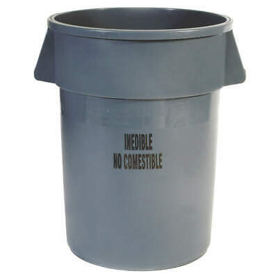 RUBBERMAID Utility Container,44 gal.,Gray, FG264356GRAY