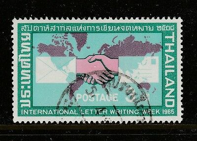 1965 THAILAND 3 Baht Letter Writing Week  Sakserm#513
