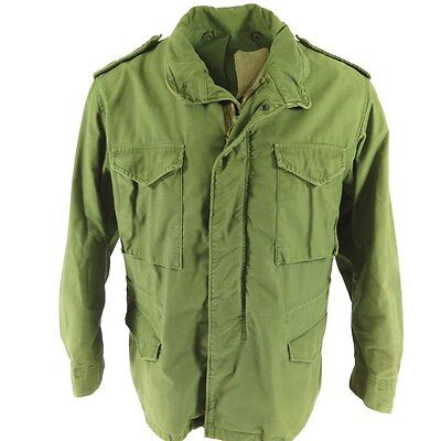 ORIGINAL VINTAGE US army ISSUE M65 FIELD COAT Jacket VIETNAM OG-107 green SMALL