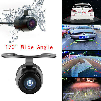 170 Mini Car Front Rear View Camera CCD Reverse Backup Night Vision Waterproof