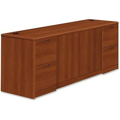 HON 10700 Series Cognac Laminate Double Pedestal Credenza - HON10742CO