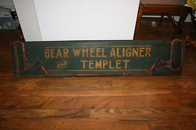 Antique Bear Wheel Aligner And Templet Great Steam Punk Find Great Cond For Age