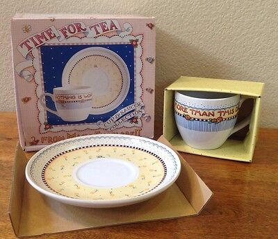 Mary Engelbreit, Tea For Two, Nothing Is More Than Today, Cup And Saucer, NEW!