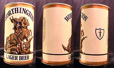 Worthington Lager Beer - Late 1960's 34Cl Pull Tab Can London & Hamilton - Nice