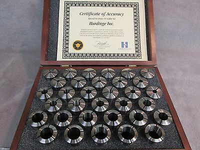 Hardinge 33 Piece Special Accuracy 5C Collet Set ,New in Walnut Case