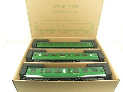 Darstaed O Gauge Southern Bulleid Corridor Coaches x3 Set A 2/3 Rail B/New Boxed