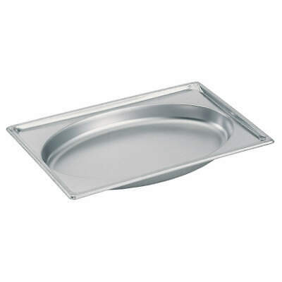 VOLLRATH Stainless Steel Steam Table Pans, Full Oval, 3101020