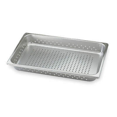 VOLLRATH Stainless Steel Perforated Pan,Full-Size, 3.9 Qt, 30013