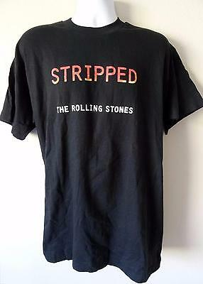THE ROLLING STONES STRIPPED 1995 RARE PROMO T-Shirt BLACK SZ XL JAGGER RICHARDS