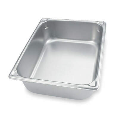 VOLLRATH Stainless Steel Pan,Two-Thirds Size,9 1/3 Qt, 30142