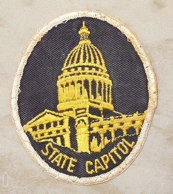 Vintage OBSOLETE Arkansas State Capitol Police Patch