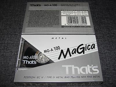 Audio Cassette That's Mg-A100' Metal ..10 Pcs New Sealed