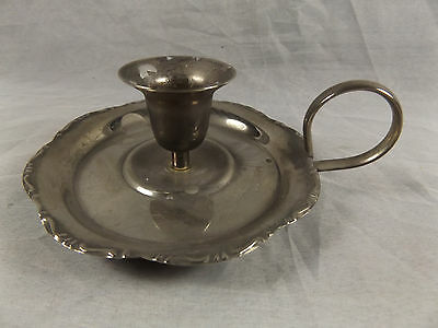 Vintage Silverplate Candle Holder Candlestick ~ Silver Plate