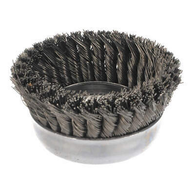 WEILER Knot Wire Cup Brush,Threaded Arbor,5 In., 93398