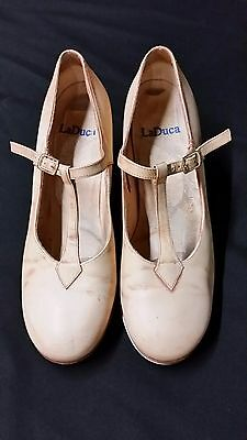 "LaDuca ""Roxie"" Hard Sole Tap Shoes Size 8"