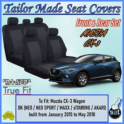 Custom Made Black Seat Covers - Mazda CX-3 (CX3) Wagon: 03/2015 to Current