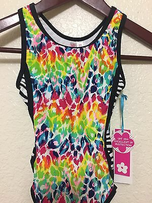 Limited Too Justice Girls Nwt  Size 5/6 One Piece Chetta Swimsuit Bathing Suit