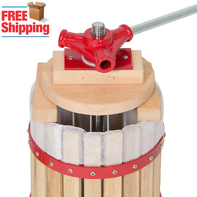 Oak Wine Cider Press Grape Fruit Juice Apple Maker Wood 6-L Basket Weston-Type