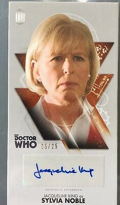 Doctor Who Autograph Card 5/25 Jacqueline King Sylvia Noble