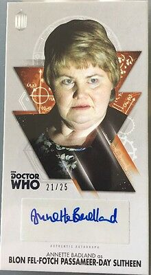 Doctor Who Autograph Card Bronze Annette Badland As Slitheen  21/25