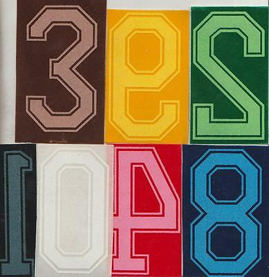 SPORTS  IRON-ON  NUMBERS   Size 10cm FLOCK NUMBERS in 7 Colours: