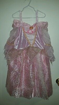 Disney Store Sleeping Beauty Princess Aurora Gown Child Girl's Costume 9/10