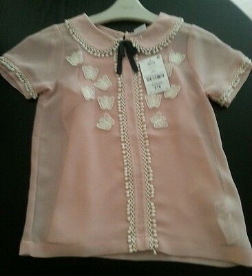 Girls Next Pink Top with Vest Age 6 years Bought Never Worn