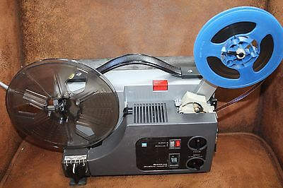 SANKYO 1000H  DUAL 8mm SILENT MOVIE PROJECTOR, NEW OSRAM 100w LAMP , SERVICED A1