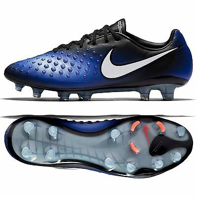 Nike Magista Opus II FG 843813-018 Black/Paramount Blue/White Men Soccer Cleats