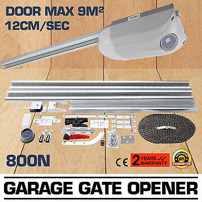 Automatic Garage Door Opener 800N Move Power Drive 2 Remotes Operator